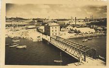 Tarjeta Postal. AVILÉS. Puente de San Sebastián. Al fondo, Siderúrgica Nacional.