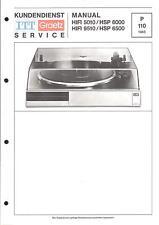 ITT/Graetz Service Manual Pour Hifi 5010-9510-hsp 6000-6500