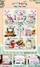 """Mini Tea time"" Counted cross stitch chart.(pattern leaflet) SODA SO-3121"