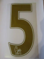 no 5 Premier League EPL Football Shirt Name Set Rear Number Gold Sporting ID