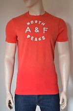 Nueva Abercrombie & Fitch Dickerson muesca Rojo destruir Tee T-shirt L RRP £ 68