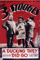 A Ducking they did go The 3 Stooges movie poster print
