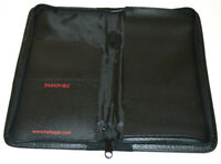 Travel Wallet Passport Ticket Holder Document Organizer Zipper Trafalgar Black