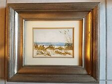 Framed and Signed Rita Smith Seascape Original Art Work on Matted Paper