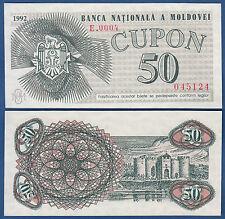 MOLDAWIEN / MOLDOVA 50 Cupon 1992  UNC  P.1