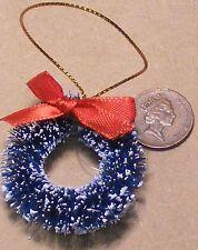 1 12 Scale Dolls House Snowy Wreath & a Bow Christmas Garland Xmas Accessory 38