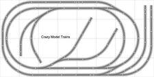 Layout #006 Bachmann HO EZ Track (NS) Nickel Silver - 4' X 8' NEW - Train Set