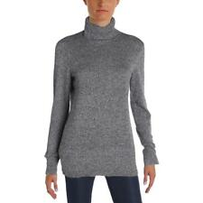 Aqua 7463 Womens Gray Turtleneck Long Sleeve Knit Turtleneck Sweater L BHFO