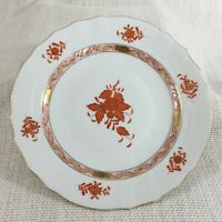Herend Porcellana Pranzo Piatto Dessert 22.9cm Apponyi Arancione Cinese Bouquet