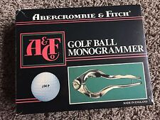 Vintage Golf Ball Monogrammer Abercrombie & Fitch Made in England Original Box