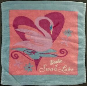 Barbie Pack Of 2 Face Towels   Cloths   100% Cotton   Barbie Swan Lake