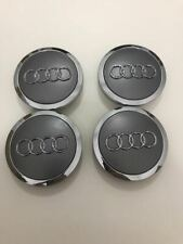 Set 4 coppette Tappi Coprimozzo Audi 69 mm Grigio per cerchi in lega