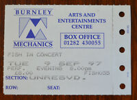 Fish Burnley Mechanics 9 September 1997 Ticket Stub – Marillion