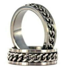 One Stainless Steel Chain Link Ring - Size 11.5 (21mm)
