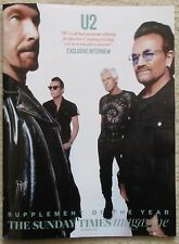 Exclusive interview with U2 - Sunday Times Magazine – 30 September 2018