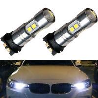 2pcs 2835-10SMD Error Free Xenon White Daytime Running Light DRL light Bulbs