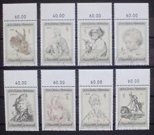 AUTRICHE 1969 bicentenaire de Albertina Art Collection Set of 8 Fine Used
