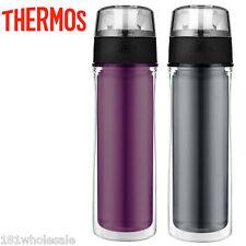 Thermos Insulated Water Bottle Tritan Hydration BPA Free Purple Grey 530ml 18oz