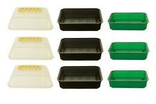 3 x Whitefurze 22cm Small Garden Gravel Tray Seed tray With Propagator Cover Lid