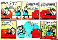 ANDY CAPP Cartoons. Collection of Andy Capp Comics on Disc/DVD. B&W and colour/