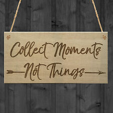 Collect Moments Inspiration Motivation Friendship Hanging Plaque Home Gift Sign