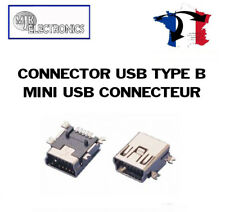 Connecteur mini USB Type B CMS SMD (à souder / to solder) (TomTom) (GPS) (PHONE)