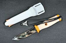 Dive Spearfishing Knife Pelengas Maestro With Magnetic Foot Wite EDITION