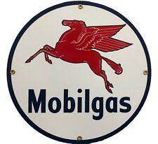 Mobil Gas Porcelain Advertising Sign