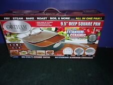 """GOTHAM STEEL 9.5"""" Deep Square Pan 5pc Set - New in Box -As Seen on TV"""