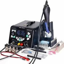 YIHUA 853D 5A-II 4 in 1 Hot Air Rework Soldering Iron Station and DC Power 30V