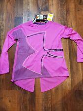 Girls' UA Tech™ V-Neck Long-Sleeve Tshirt Youth Large Girls YLG/LG