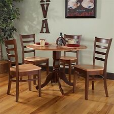 International Concepts 5 Piece Dining Set in Cinnemon and Espresso NEW