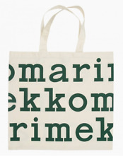Marimekko LOGO tote bag, green and off white, from Finland, new