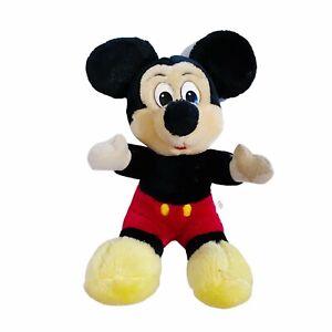 "Mickey Mouse Walt Disney Vintage 80's Stuffed Plush 12"" Soft Toy"