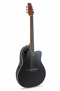 Ovation Applause Acoustic Electric Cutaway Guitar - Black Spruce Top