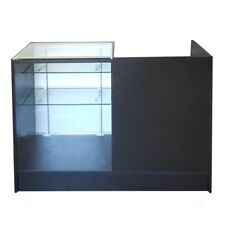 KIOSK Counter Glass Showcase Combination 500(D)x950(H)x1200(L) Black