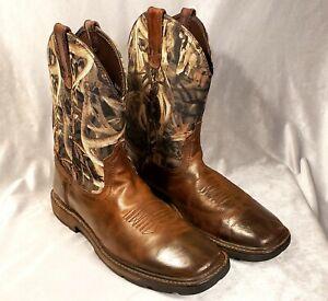 ARIAT Men's Groundbreaker Work Boots Camo Sz 12 D w/ Bonz Camouflag10015189