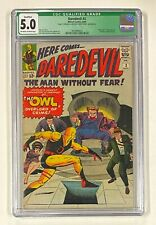 DAREDEVIL #3 Marvel Comics 1964 CGC 5.0 The Owl Origin & 1st Appearance