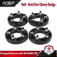 "4pc Wheel Spacers Adapters 1"" inch | 5x5 - 5x4.5 | 12x1.5 Studs 5x127 - 5x114.3"