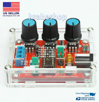 XR2206 Function Signal Generator DIY Kit Sine Output 1HZ-1MHZ + Acrylic Case