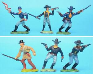 CRESCENT 60mm U.S. Cavalry figures toy soldiers (U)