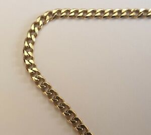 18ct Yellow Gold Curb Link Necklace Chain 20 Inches