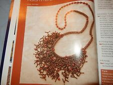 Beadwork Autumn Branch Necklace, Medieval Inspired Projects Chain Mail Etruscan