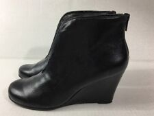 Mossimo Ankle Boots Black Size 6M Plum Drum Wedge