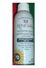 Rite Aid Renewal Extreme Sport Continuous Sunscreen Spray 70 Spf-5 Oz