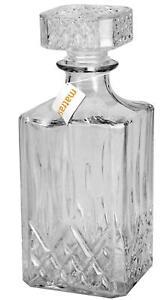 Whiskey Karaffe 1L - Glasflasche für Whisky Cognac oder Selbstgemachtes Likör