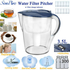 Water Filter Pitcher Filtration System,15-Cup Jug 3-Stage Cartridge 100%BPA-Free