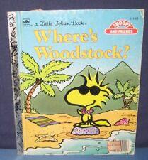 "Little Golden Book  ""WHERE'S WOODSTOCK?"" -  hc/pc - charles schulz"