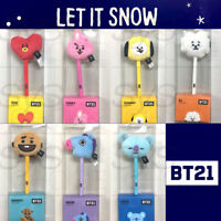 BTS BT21 Official Authentic Goods Plush Pen 7Character 0.4mm Black +Track Number