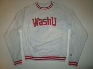 WashU Washington University Champion Reverse Weave Sweatshirt Men's S Vintage